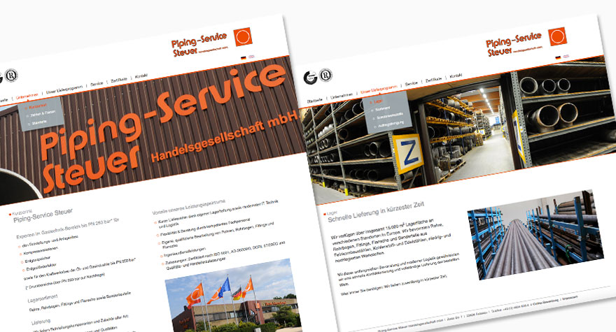 Piping Service Steuer Website